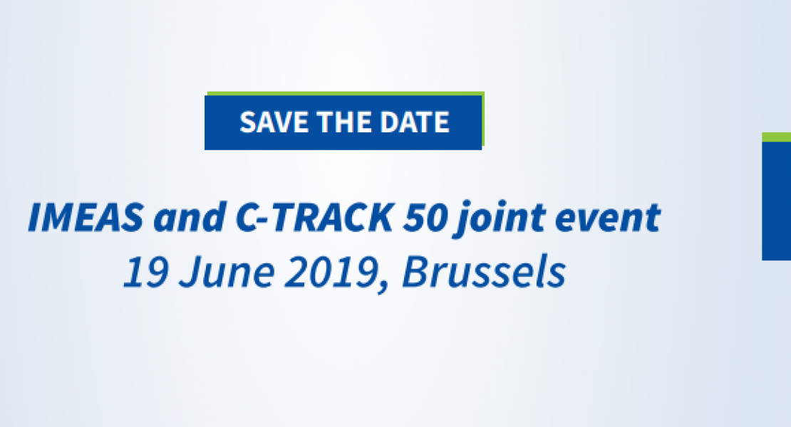 Joint IMEAS and C-track 50 event in Brussels on the 19th of June.