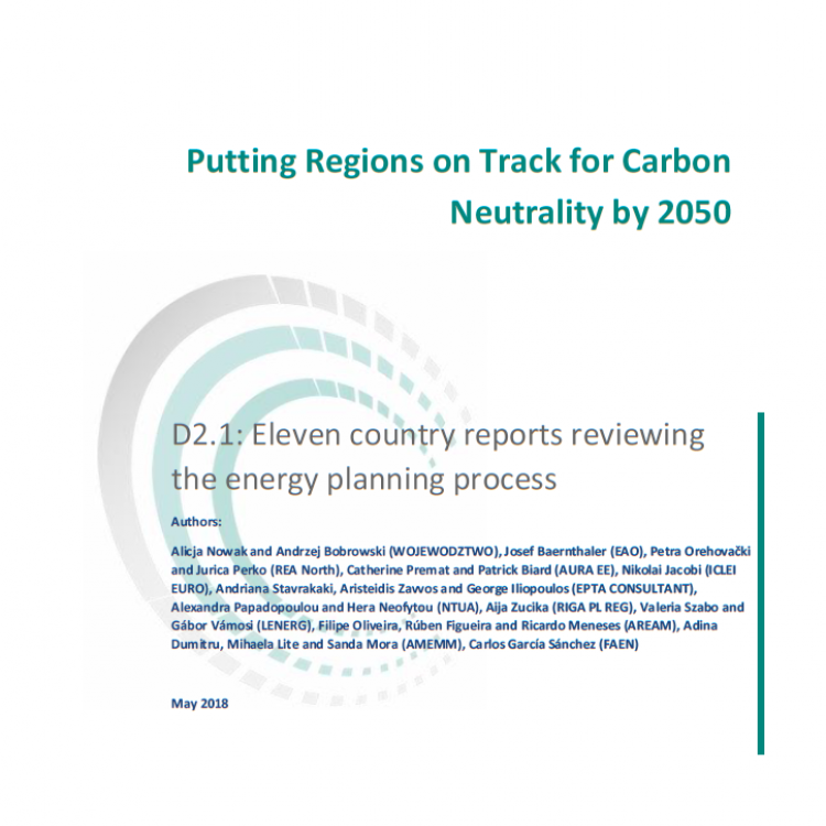 Energy Planning Process Report in 11 EU Countries